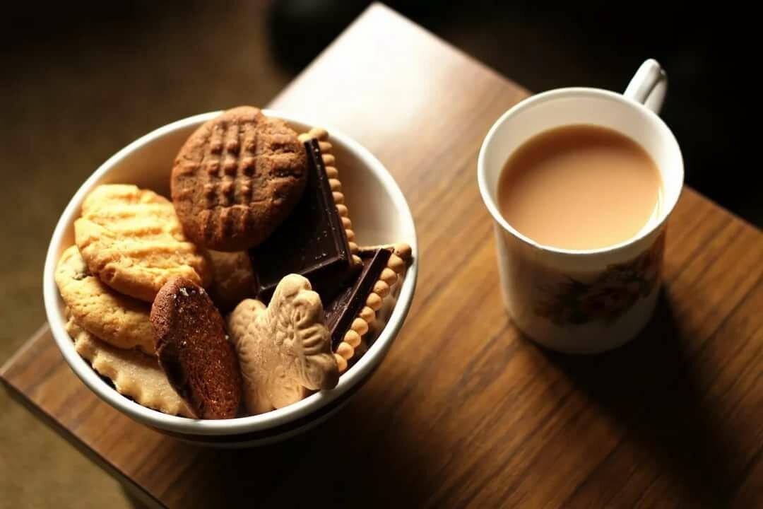 Чай с печеньками открытки, картинках
