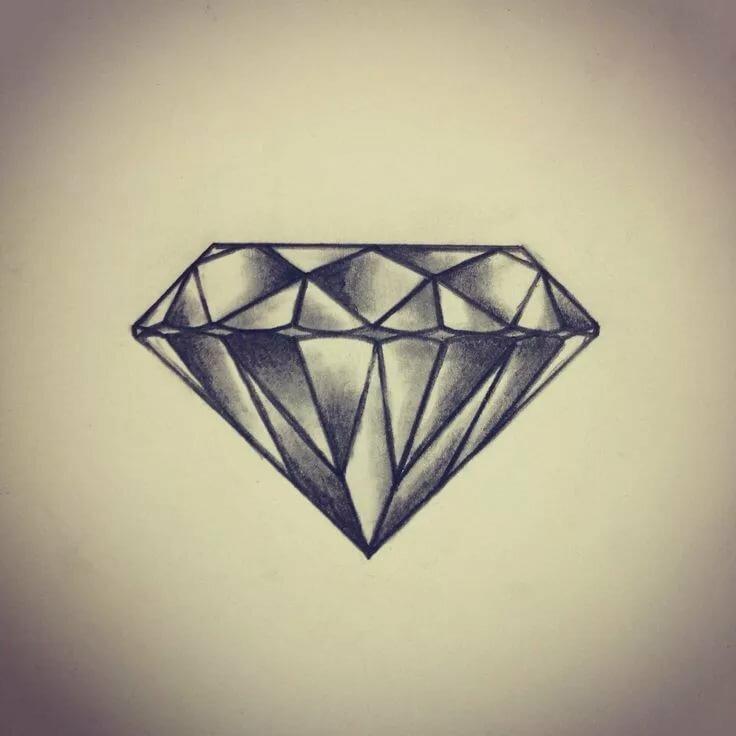 Картинки эскиз алмаз