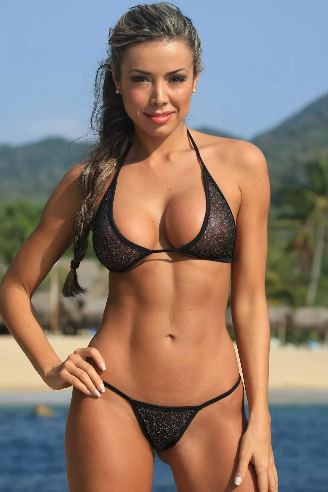 Hot string bikini models