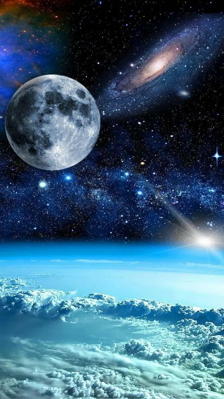 Картинки космос вселенная на телефон, открытки цветов музыкой