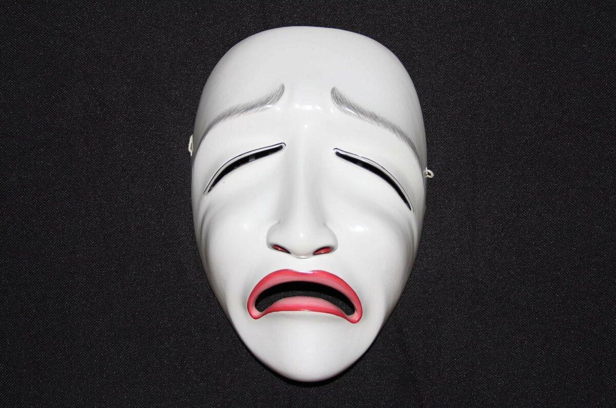 ниже картинки масок печали иногда