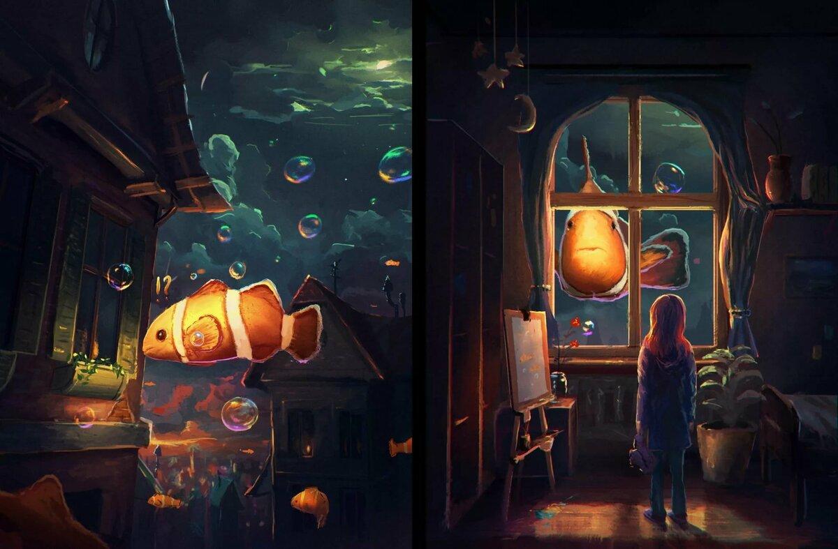 Рисунки, картинки с волшебством необычные