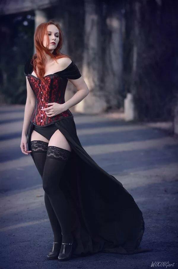 Girl redhead goth girl naked men