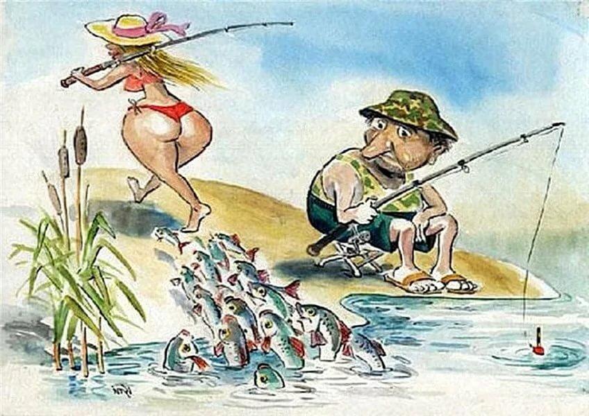 Открытки рыбачка я рыбак, подписать открытку