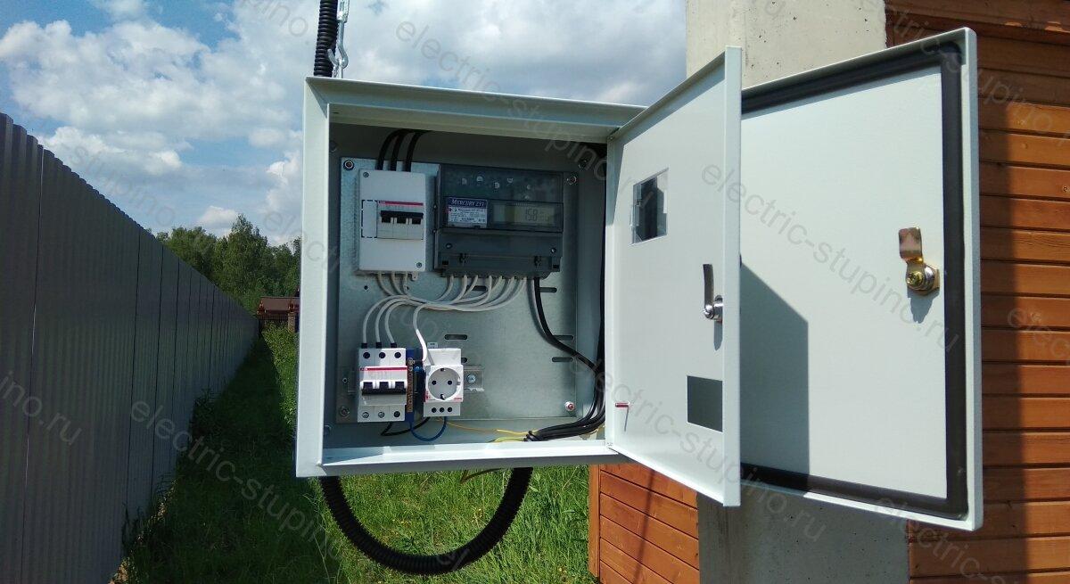 Подключение участка к электричеству 15 кВт