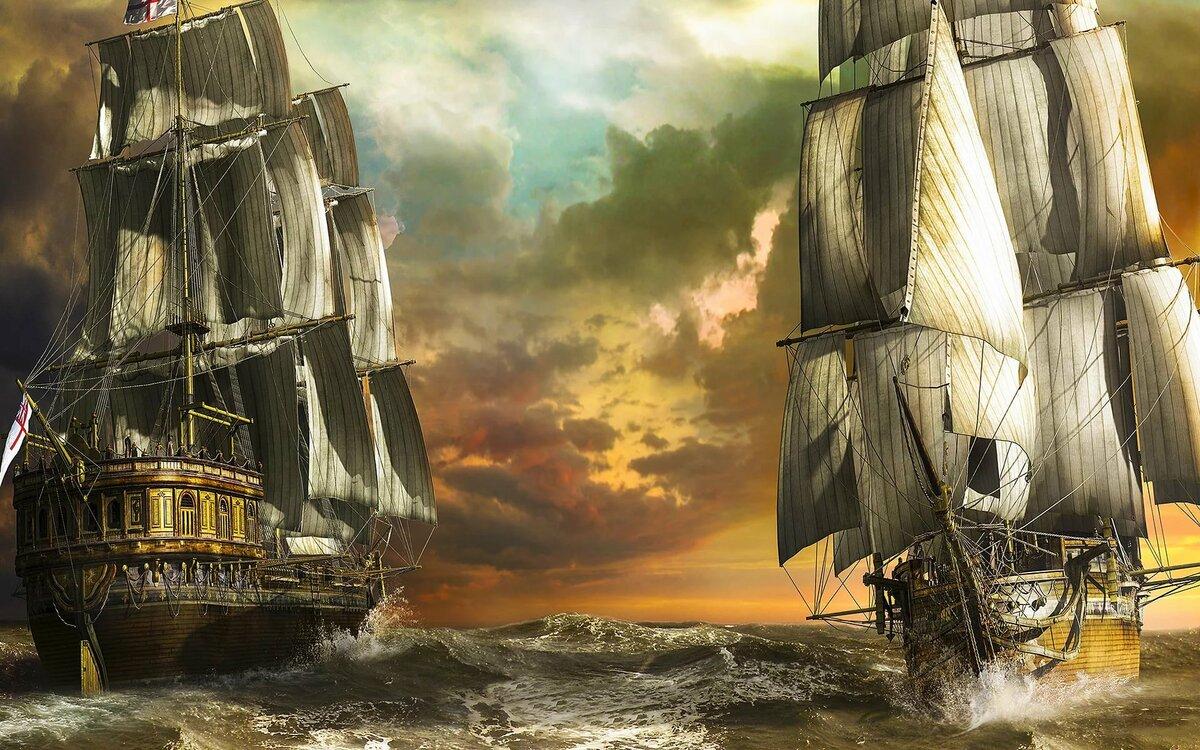 Картинки с пиратскими парусниками