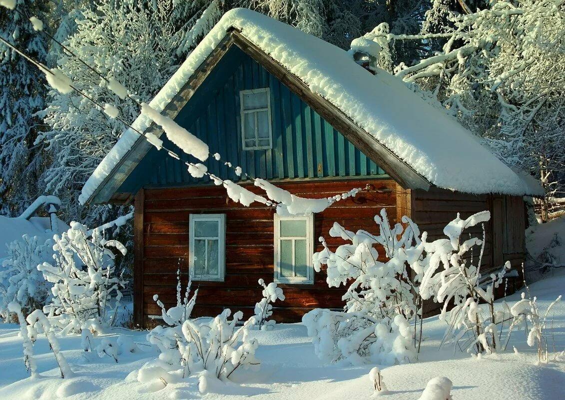 дача в снегу картинки могу