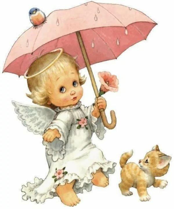 ангел под зонтом картинки тату своих