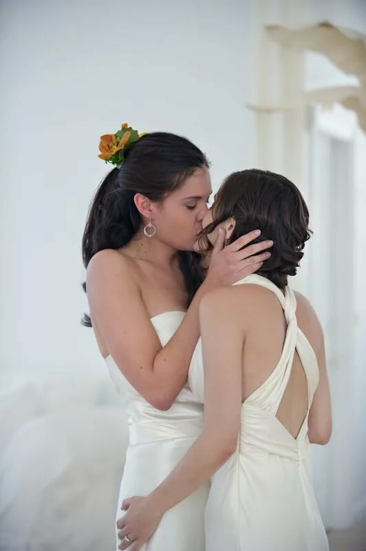 Near marriage russian lesbian couple