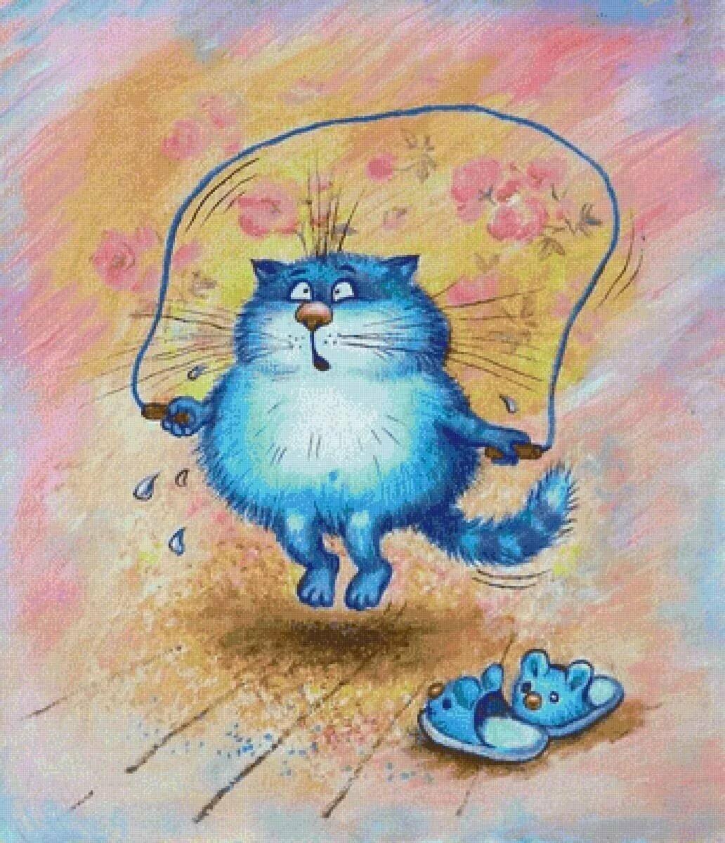 Прикольные картинки с котятами рисованные