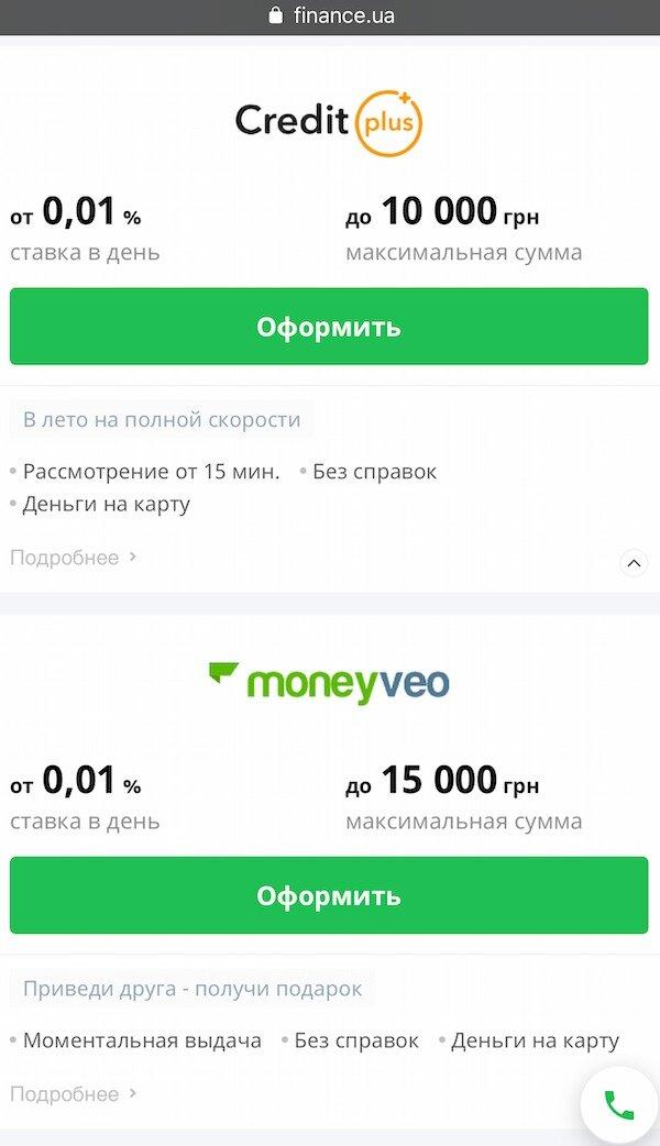 кредит под 0 на карту украина авто в кредит советы