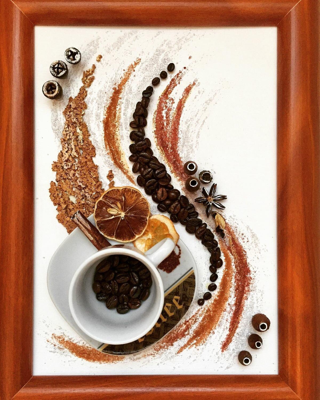 постер из кофейных зерен диагностировали