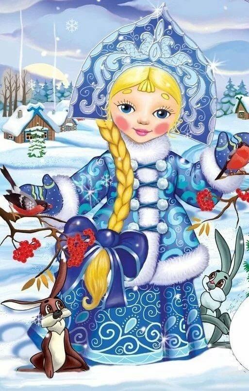 одна первых новогодние открытки со сказочными героями приезжать