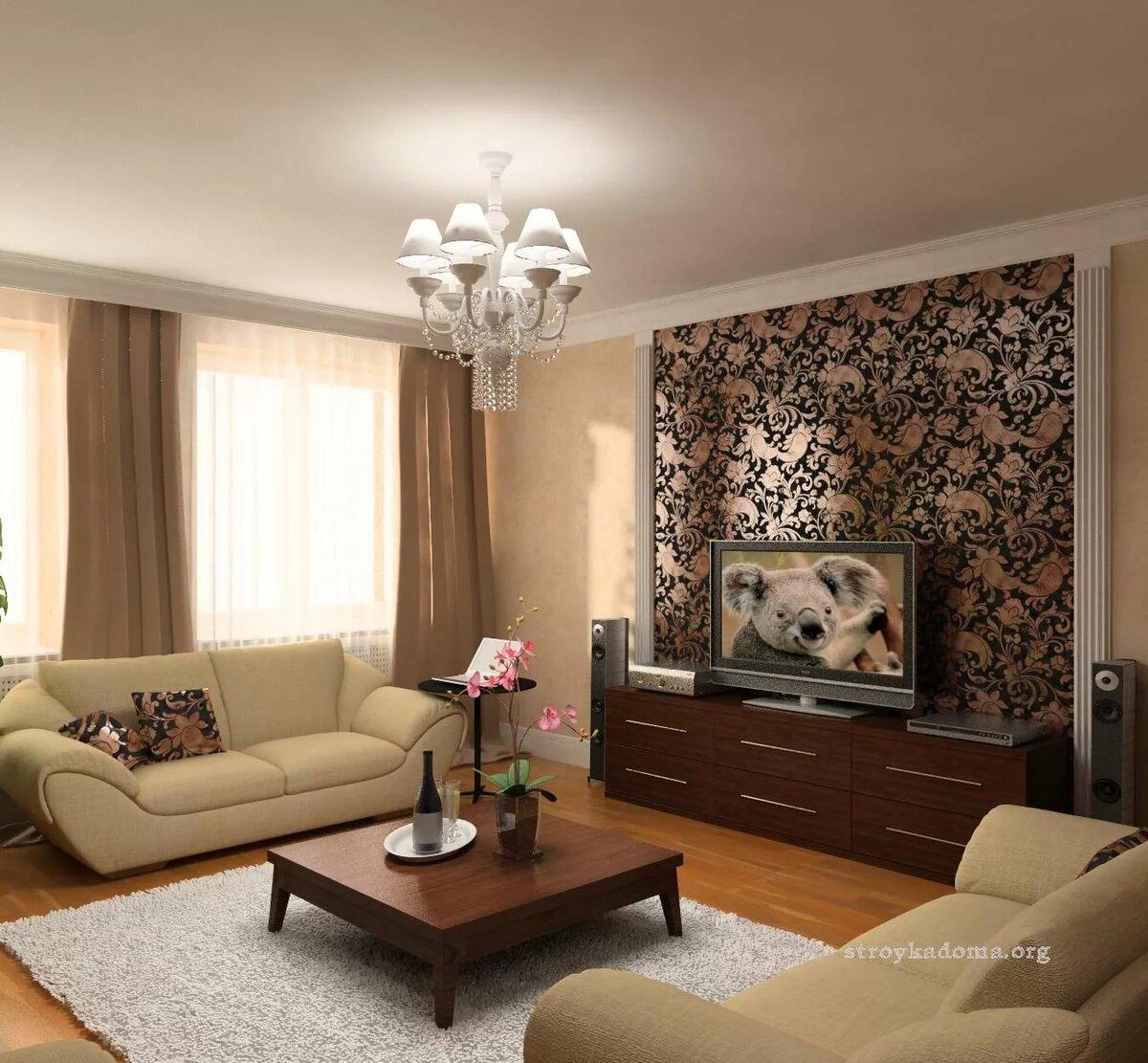 дизайн гостиной в квартире фото реальные тем является одним