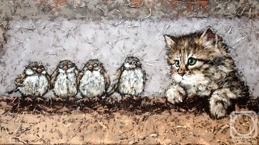 Картинки кота воробушка