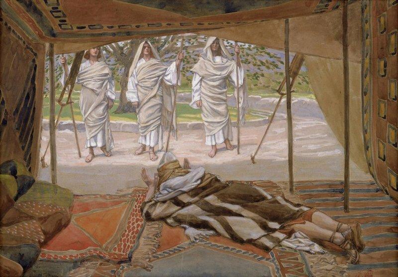 Авраам и три ангела (Джеймса Тиссо, 1896–1902 гг.)