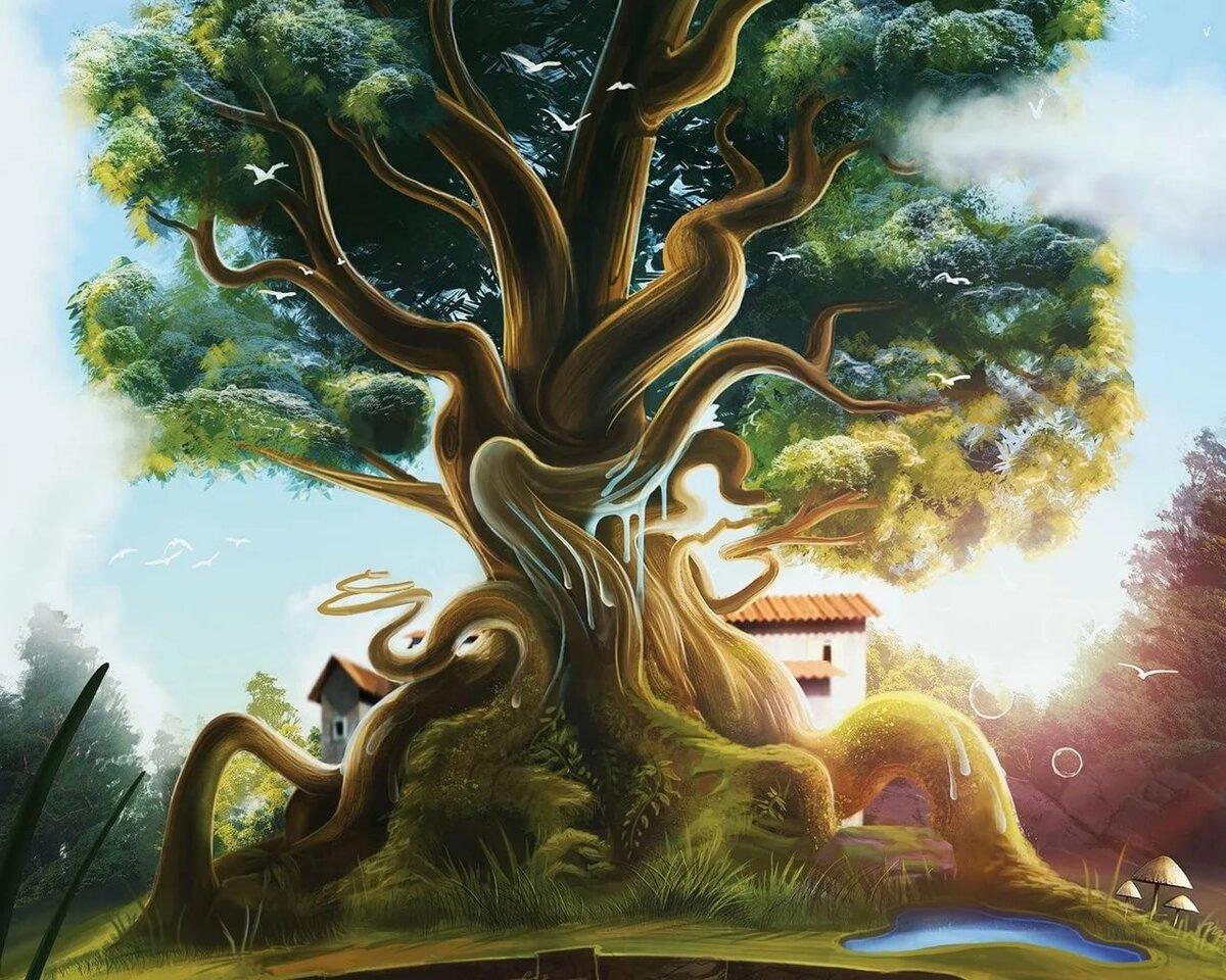 втором сказочное дерево рисунки накануне соответствии указом