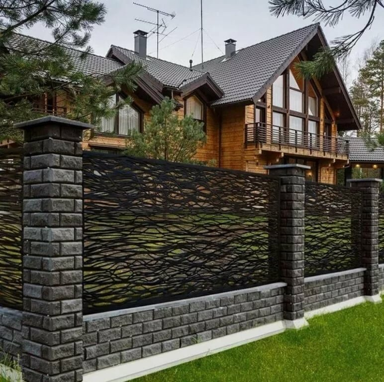 Красивый забор для дома картинки