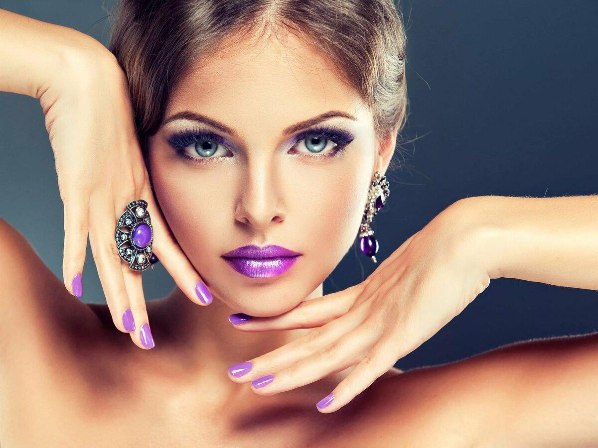 Красивые картинки девушек с макияжем