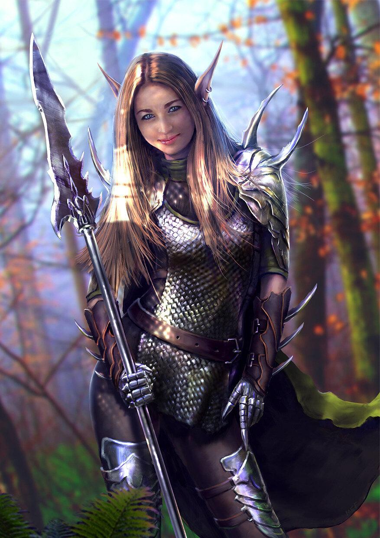 картинки воина эльфа мать