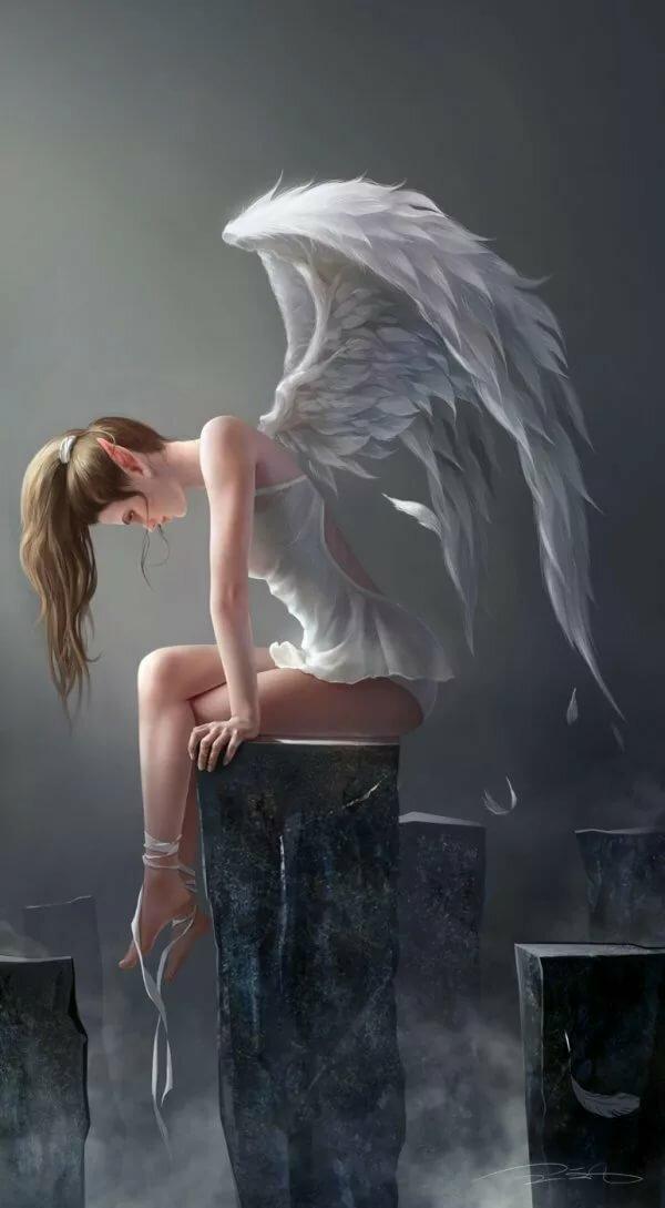 картинки на аву грустные ангелы создала свой