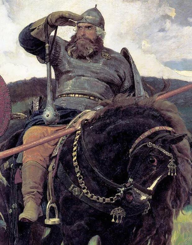 Русские богатыри картинки васнецова