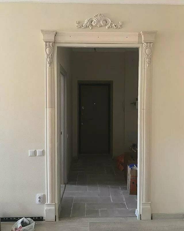 Как красиво оформить дверной проем фото