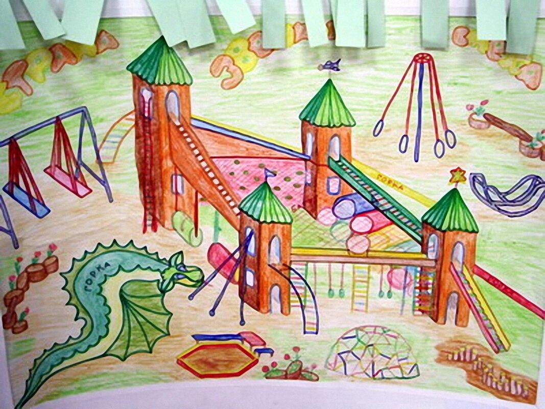 Картинки нарисованного двора