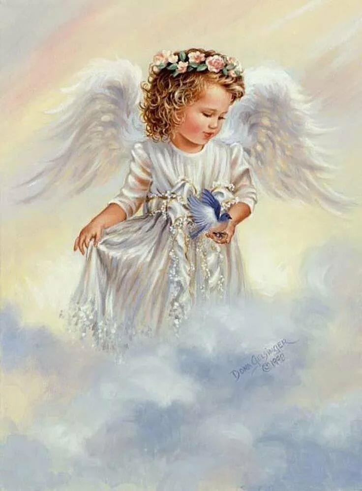 Самые красивые открытки ангелов, 10-летием