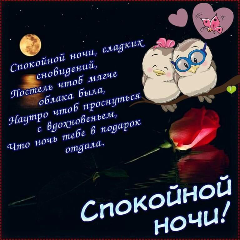 Стихи спокойной ночи сладких снов любимому мужчине