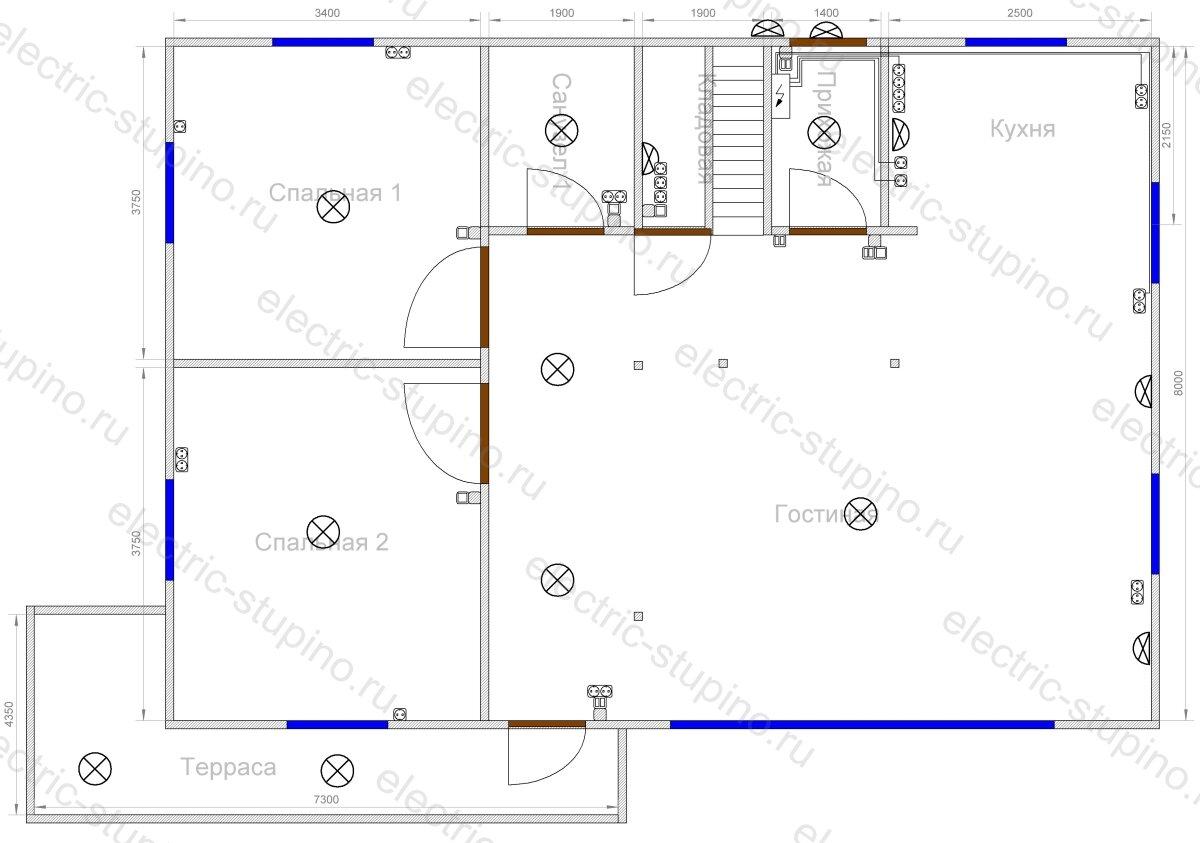 Схема расположения электрооборудования в частном доме