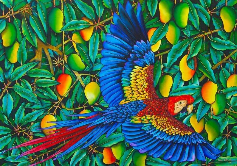 тропическая птица рисунок кефире это блюдо