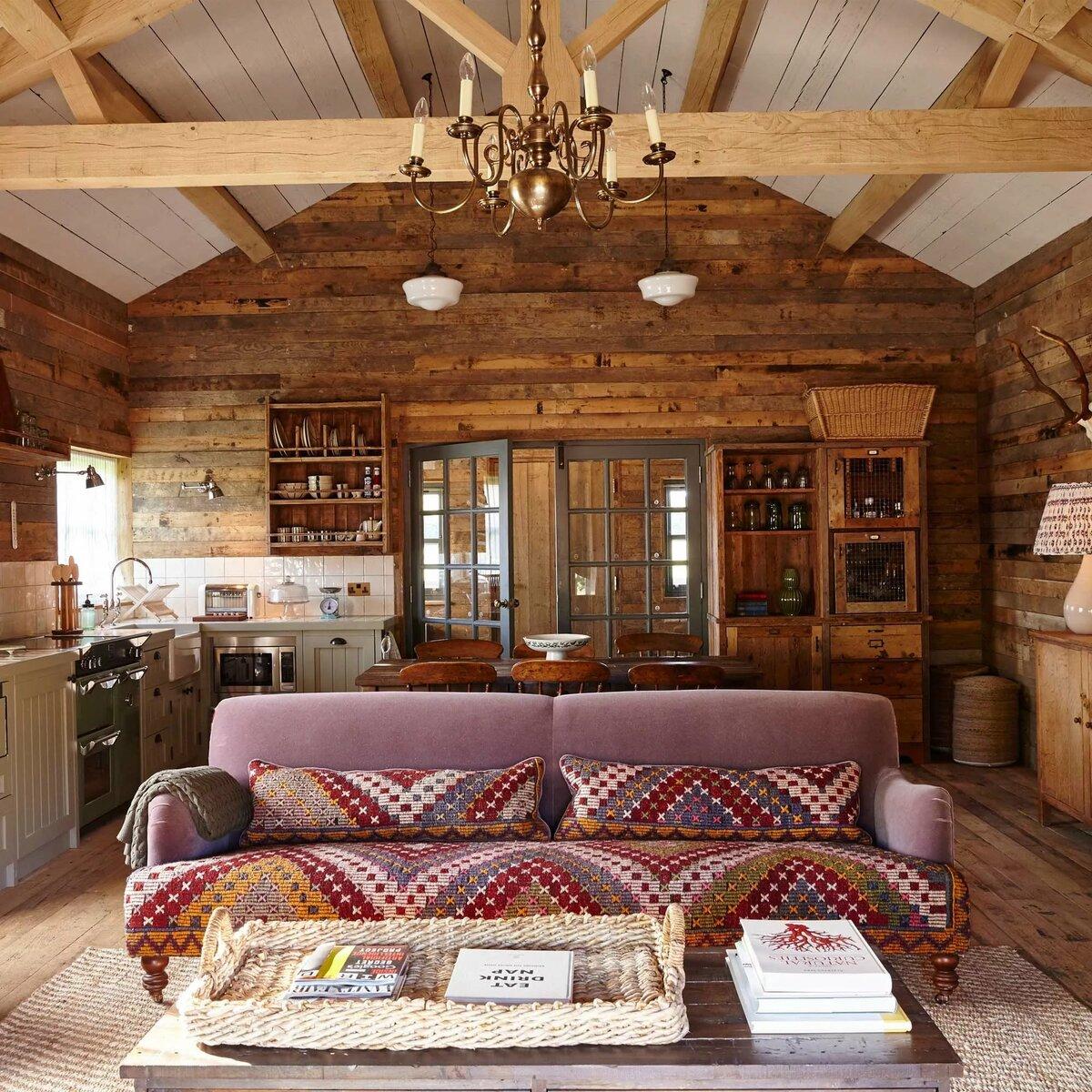 как сделать уютный зал в деревне фото