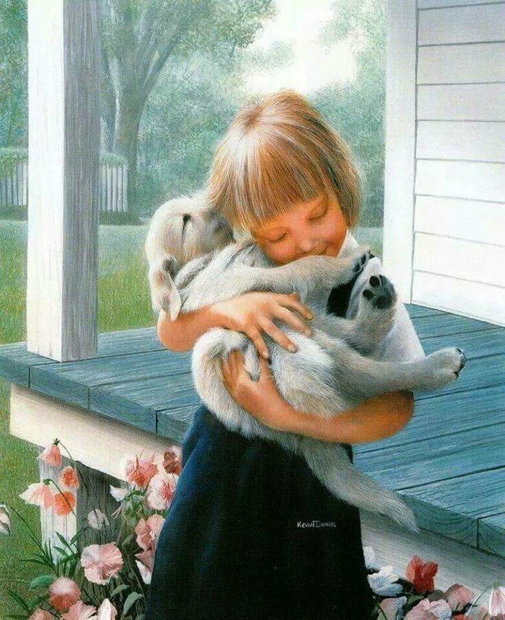 Картинки анимация про доброту