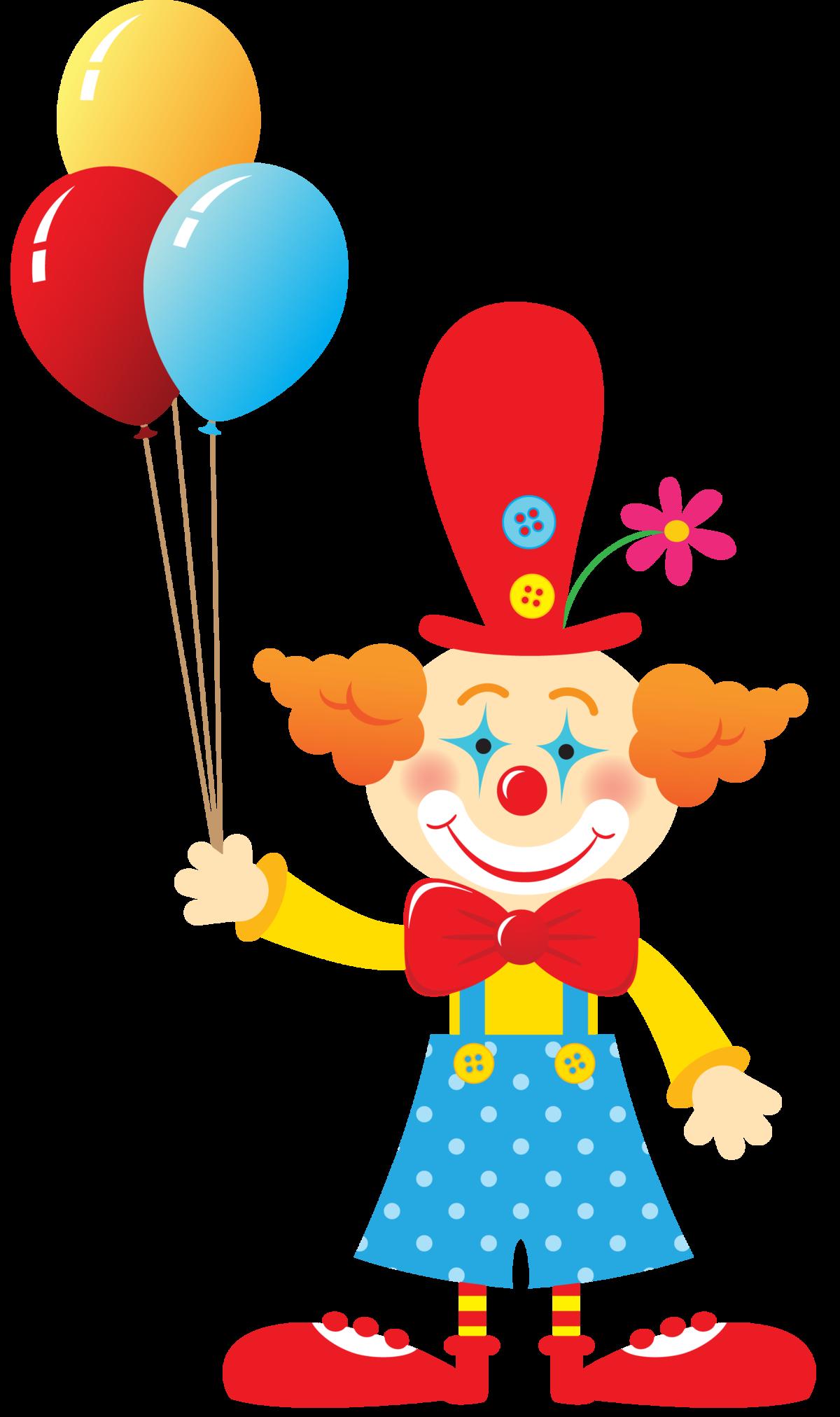 Рисунки веселого клоуна, летним