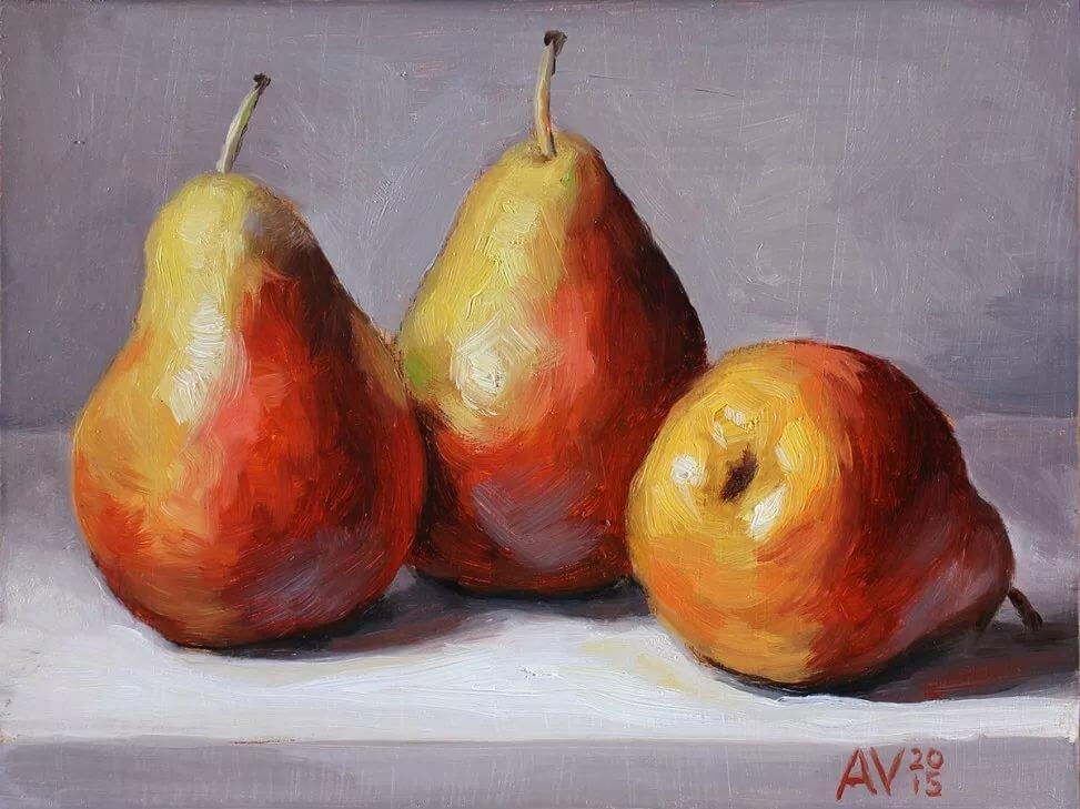 Картинка натюрморт яблоко и груша