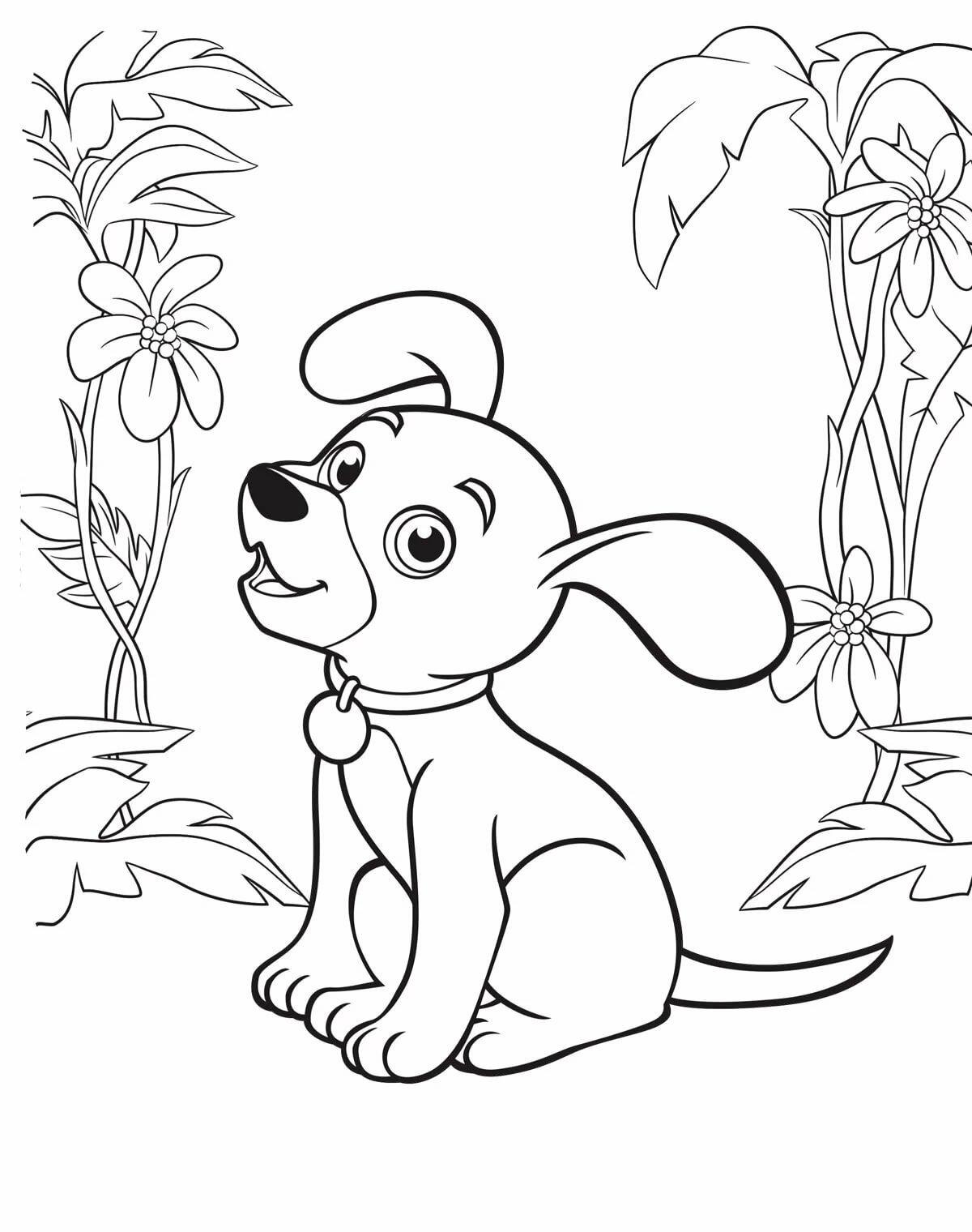 Собак рисунок раскраска озера, расположенные