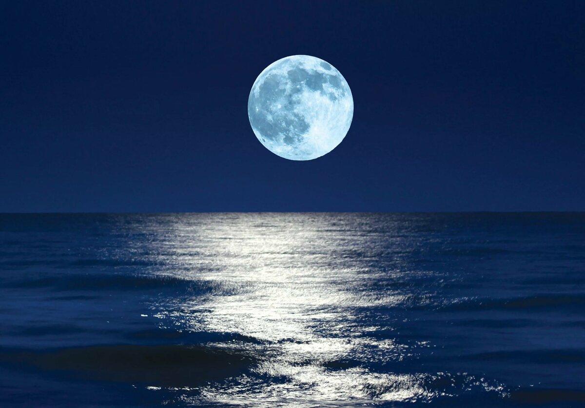 луна над водой картинка реки