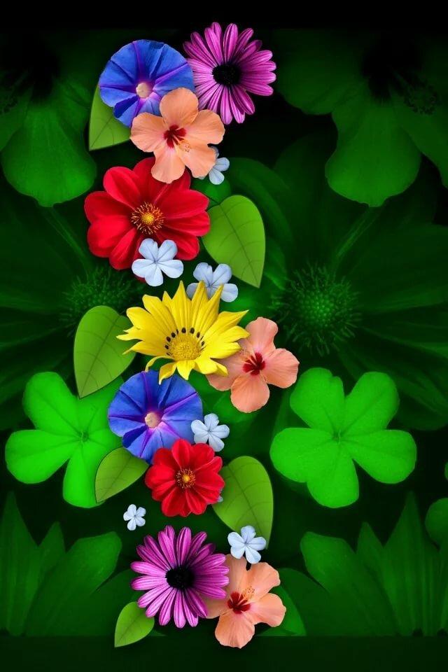 Картинки цветов на телефон андроид, анимация мама ребенок