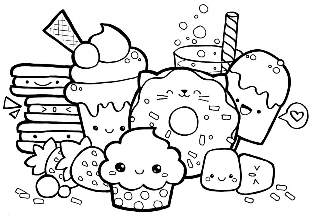 Еда в раскрасках