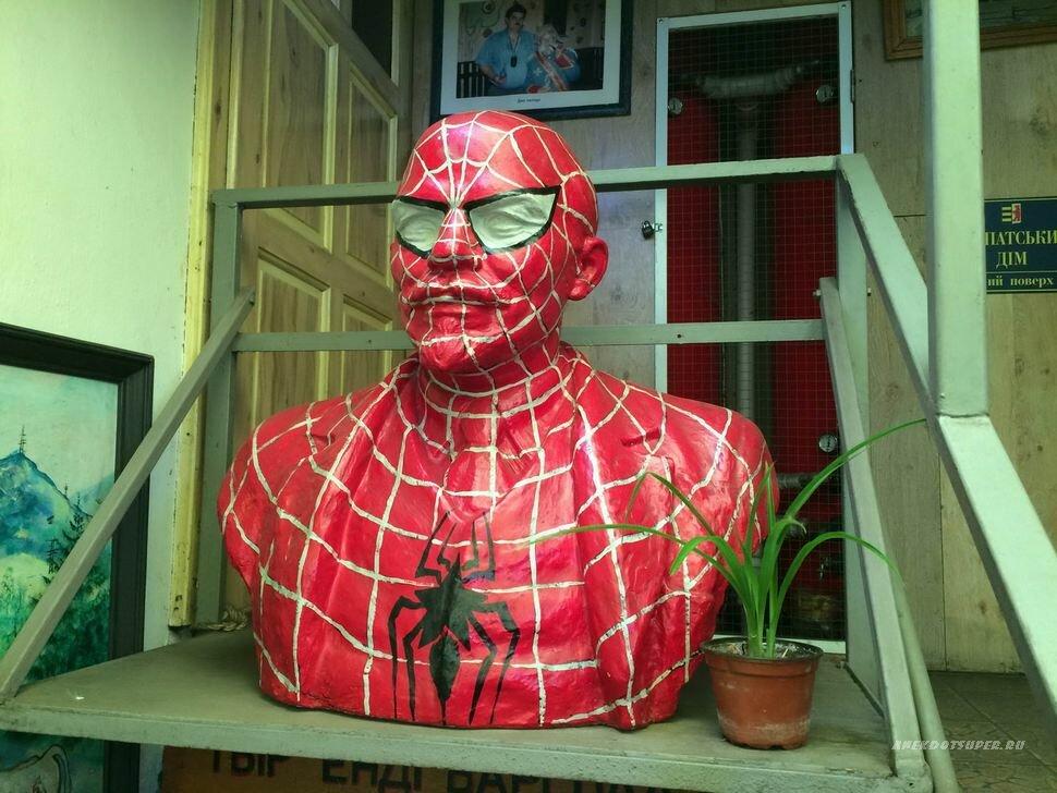 ваш смешные фото человека паука россии, которых отразилась