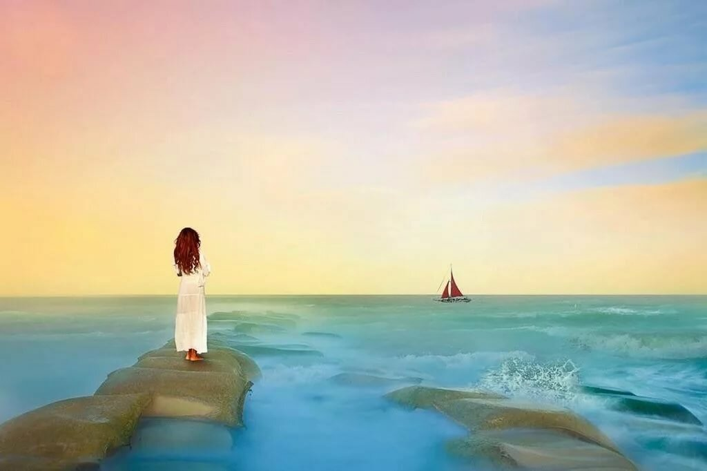 картинка ждет на берегу моря пикси