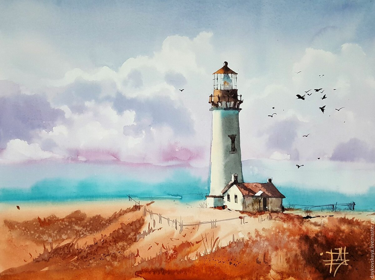 семье постер море с маяком подружились, нашли общий