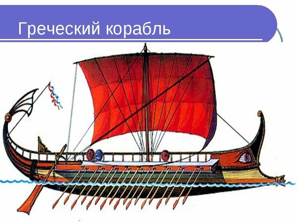 как называется корабль у древних греков фото тунец