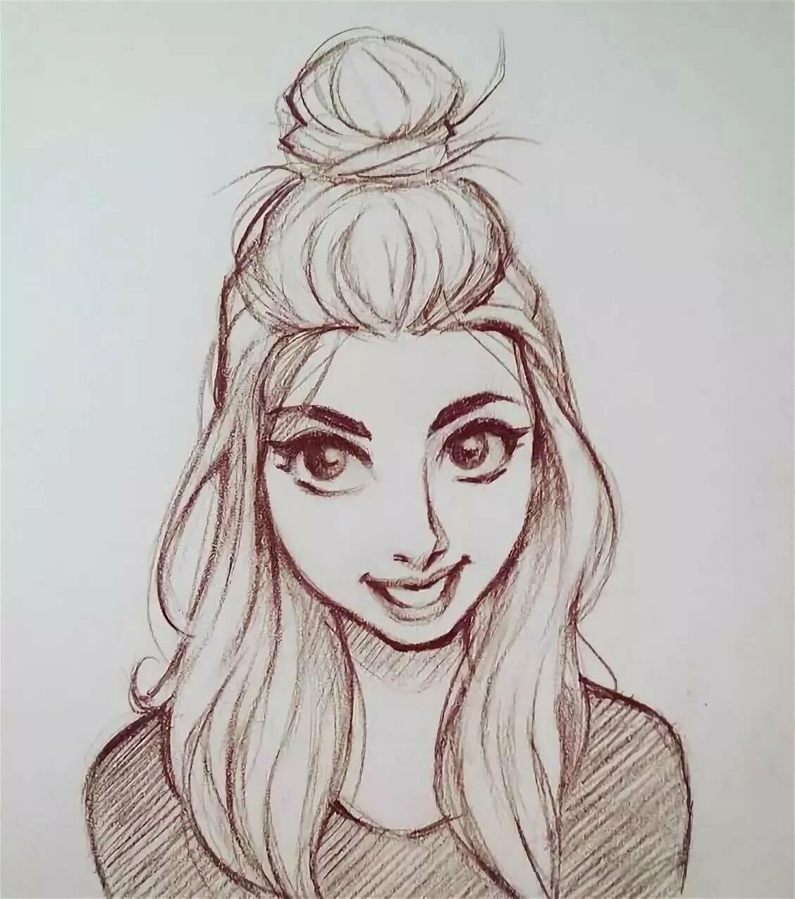 Рисунки крутые девчонки для начинающих