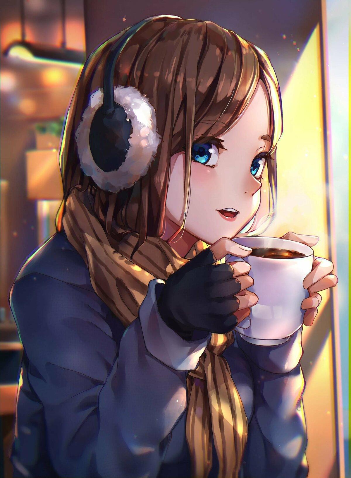Картинки аниме арт девушки
