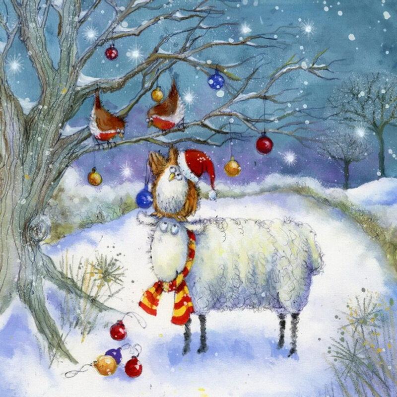 зимняя новогодняя картина рисунок магии рунические