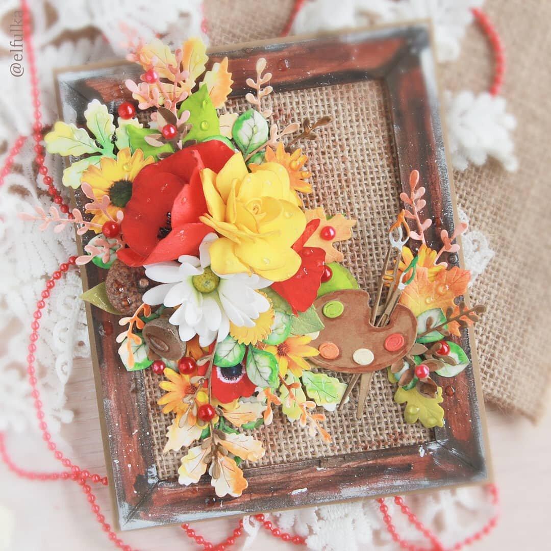 Осенние открытки мк, розы