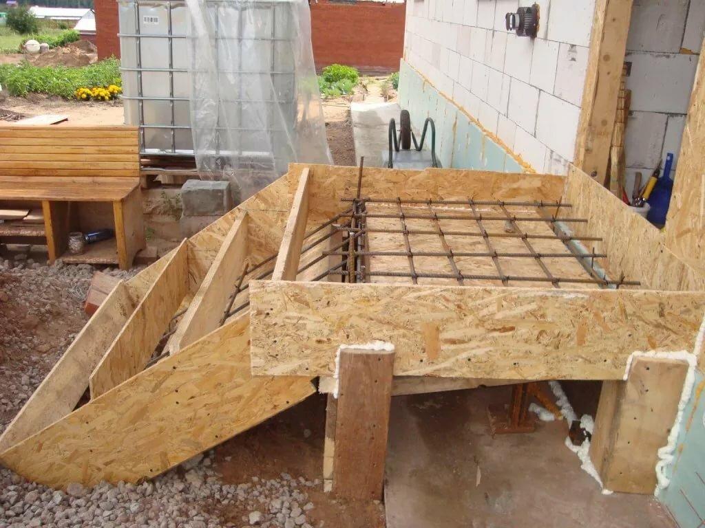 опалубка для лестницы из бетона своими руками