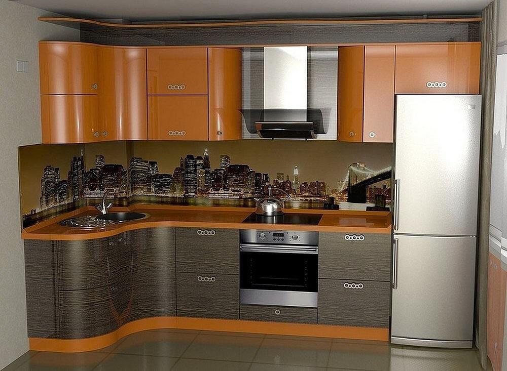 встроенные кухни фотокаталог с левым углом можно увидеть буквально